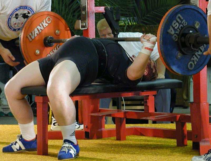 Record Bench Part - 37: Sinikka Järvenpää (FIN) Attempting A 92.5kg European Masters Record Bench  Press In The Womenu0027s M2 67.5kg Class At The 2002 European Masters Bench  Press ...
